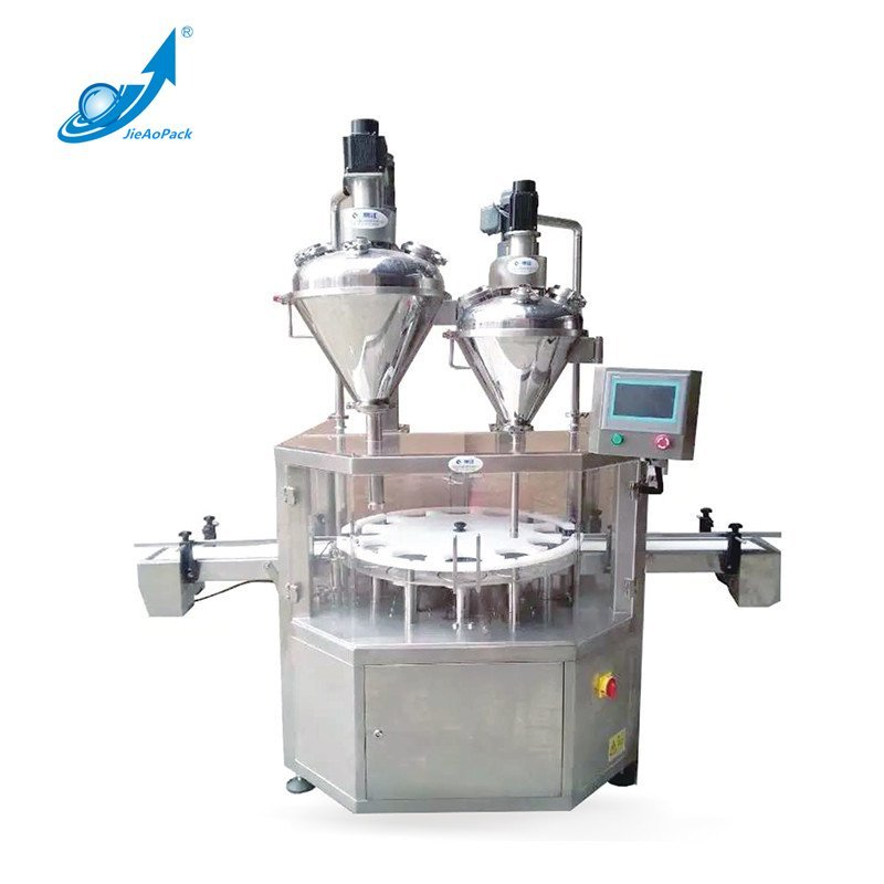 JA-30/50 Doubel Head Rotary Screw Powder Filling Machine