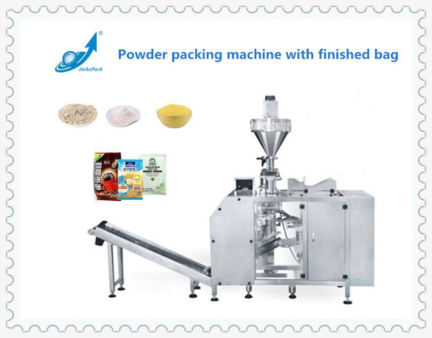 Powder Packing machine with finished bag